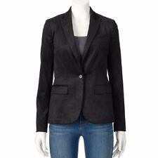 $60 Apt 9 Black Velvet Blazer Jacket-Holiday Plush Size 8 womens New Dress Coat