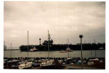 photo porte avion USS AMERICA  LE HAVRE 1989  (c5) .