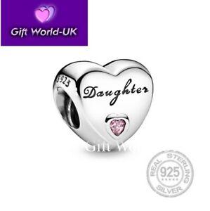 💜 925 Sterling Silver Family Love Mum Wife Aunt Dad Nan Grandma Heart Charm