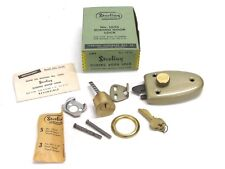 NOS! VINTAGE STERLING SLIDING DOOR LOCK, No. 1025, Dated 1952