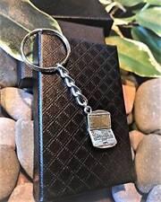 Handmade Silver Laptop Computer Keyring / Bag Charm. Gift Boxed.