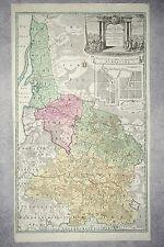 CARTE DE LA LITUANIE ET DE LA PRUSSE ORIENTALE. MAP OF LITHUNIA AND PRUSSIA 1735