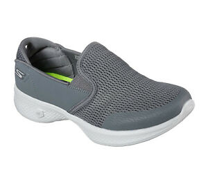 Skechers Womens Charcoal Grey Go Walk 4 Attuned Shoes Flats Trainers