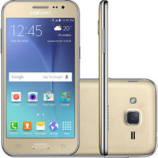 "Samsung Galaxy J2  SM-J200H GOLD DUAL SIM Factory Unlocked 4.7"" 8GB"