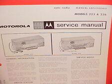1965 DODGE DART GT CORONET 500 CONVERTIBLE MOTOROLA AM RADIO SERVICE MANUAL 65