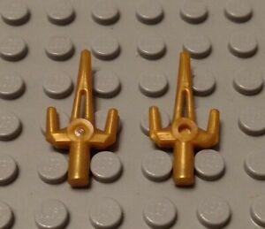 New LEGO Lot of 2 Pearl Gold Minifigure Sai Ninjago Weapons