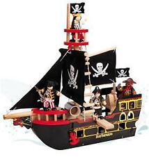 Papo Le Toy Van Wooden Wood Knight Knights Barbarossa Pirate Ship 49cm