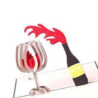 3D Up handgemachte Rotwein Grußkarte Geburtstag Hochzeit Einladung Gifts Bes