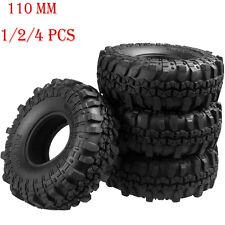 "1-4x 110MM OD Tire Tyre w/ Foam for RC 1/10 1.9"" Wheel Rims Axial SCX10 Crawler"