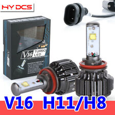 V16 H8 H9 H11 80W 9600LM Kit Cree Car LED Headlight Turbo Bulbs Conversion 6000K