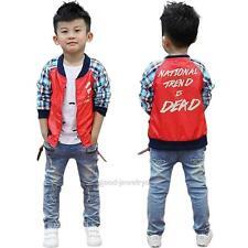 Children Kids Baby Boy Ripped Long Straight Denim Jean Pants Skinny Trousers