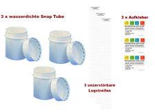 12 Teile Geocaching Versteck Dose mit Logbuch und Aufkleber 100 ml FTF