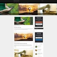 YOGA SHOP - Mobile Friendly Responsive Website Business For Sale + Free Domain