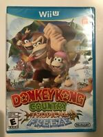 Donkey Kong Country: Tropical Freeze (Wii U, 2014) First Print Blue Case