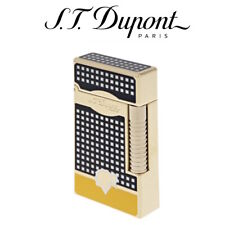 More details for st dupont cohiba collection le grand - soft & jet flame lighter black & yellow