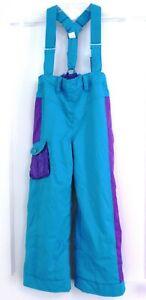 NWOT Obermeyer Snow Ski Suspender Pants Kids Girls Sz 7 I-Grow Aqua Discontinued