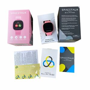 Spacetalk All-in-one Smartphone/Watch/GPS for Kids Aged 5-12 Pink Extra Dock