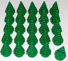 LEGO LOT OF 25 NEW SMALL GREEN PINE TREES CHRISTMAS TREE PIECES
