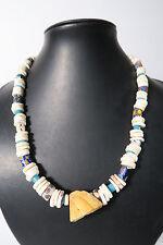 Bella Collier vecchia perline di vetro lumache Old Venetian trade beads afrozip