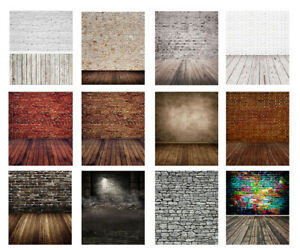 Vintage Wooden Board Background Photo Studio Scene Brick Wall Backdrop Props