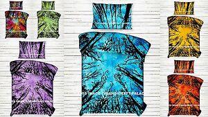 Indien Criquet Forêt Arbre Housse de Couette Couverture Hippie Mandala Jeté Lit