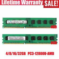 4/8/16/32GB 2Rx4 PC3-12800 DDR3 1600Mhz Desktop Memory Only for AMD chips lot