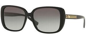 Occhiali da Sole Versace MEDUSA LEAVES VE 4357 Black/Grey Shaded 56/16/140 donna