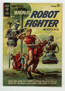 MAGNUS ROBOT FIGHTER #2 5.0 RUSS MANNING ART PAINTED COVER OW PGS 1963