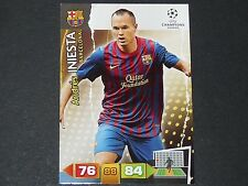 INIESTA Barça BARCELONE UEFA PANINI FOOTBALL CARD CHAMPIONS LEAGUE 2011 2012