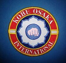 1990's Kobe Osaka International TKD Martial Arts Jacket Gi Patch Crest MMA 269