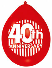 Happy 40th Anniversary Balloons Ruby Wedding Party Decorations FREE P&P