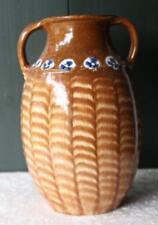 Antik 30 cm Bunzlau Keramik Vase Pfauenauge Keramik Jugendstil Festersen