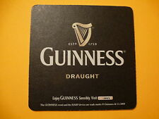 Beer Coaster 2008: Guinness Draught By St John's Gate, Ireland Brewing ~ Believe
