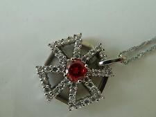 925 Sterling silver Iron cross Pendant (Garnet) Quality AAAAA grade CZ, NWT