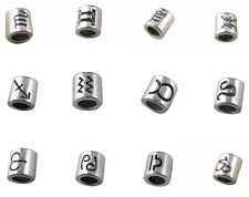 48 PCS Mixed Lots of tibetan silver metal sign beads fit charm bracelet