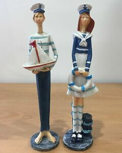 Nautical Seaside Friends Standing Tall Beach Ornament Bathroom Seaside Decor