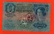 YUGOSLAVIA ITALY CROATIA  20 KRONEN 1918 .G. - CITTA DI FIUME