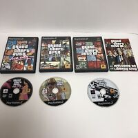 GTA PS2 Playstation 2 Lot Tested Grand Theft Auto 3 III San Andreas Vice City