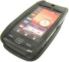 caseroxx Leather-Case with belt clip for Samsung GT-S5230 Star in black made of
