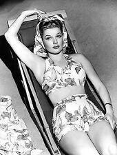 WW2 Photo WWII  World War Two US Movie Star Ann Sheridan Bathing Suit  / 1504