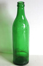 """Clicquot Club vintage green glass ginger ale bottle 10.25"""" FREE SH"""