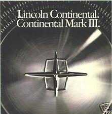 1969    Lincoln  Continental  & Mark III  Sales   Catalog