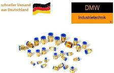 """Pneumatik Steckverbinder M5 M6 R1/8"""" R1/4"""" 4 6 8 mm Schlauch Messing Druckluft"""