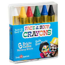 Face Paint 6 Color Crayon Set - Color Face Paint Ultimate Party Pack