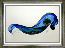 ERTE Rare Riviera Serigraph Original SIGNED Art Deco Set Designed Romain Tirtoff
