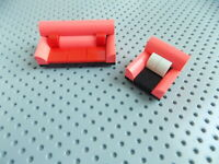 Lego 1 Chair and 1 Sofa/Couch Minifigure Accessory Modular Home Furniture