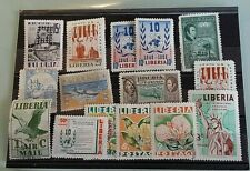 LIBERIA STAMPS. 15  .MISC SELECTION..11  MINT/ 4 USED  COLLECTION  BREAK-UP