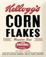 Kelloggs Corn Flakes Advert VINTAGE ENAMEL METAL TIN SIGN WALL PLAQUE