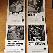 SET OF 4 JACK DANIELS/DANIEL'S WHISKEY ADVERTISING SPIRITS POSTCARDS