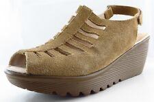 Skechers Slingback Sandals Beige Leather Women Shoes Size 9.5 Medium (B, M)